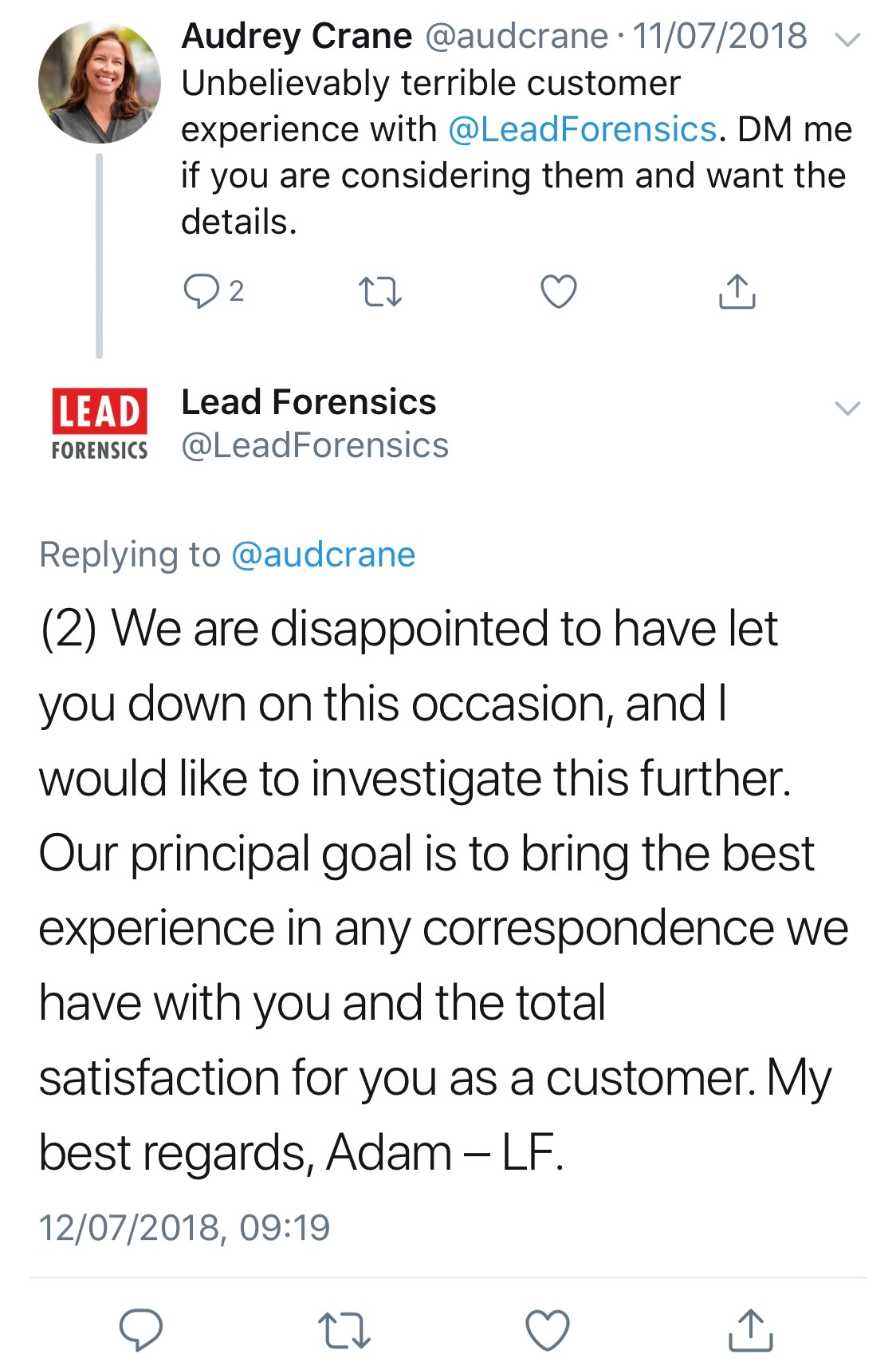 2018-07-11-Lead-Forensics-Complaint