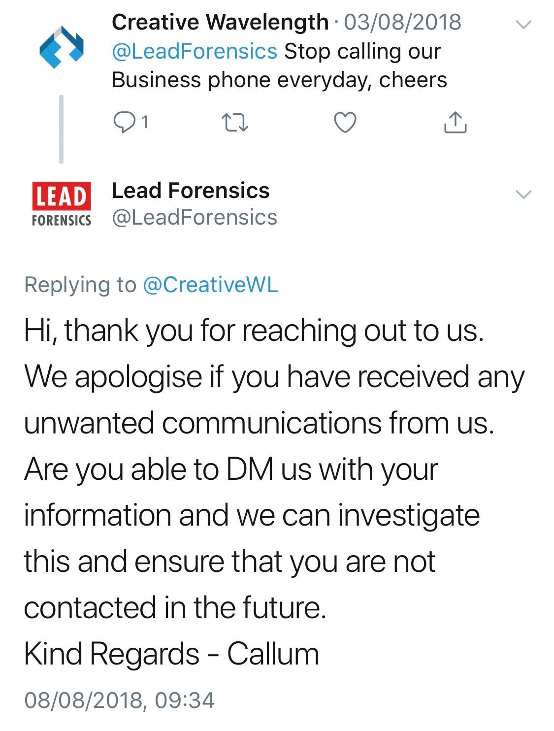 2018-08-03-Lead-Forensics-Complaint