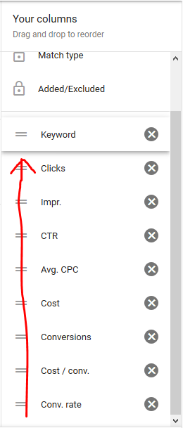 Google Ads Search Terms 101 step 7c