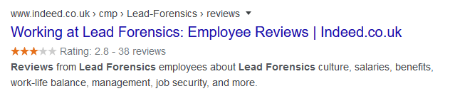 lead forensics reviews indeed